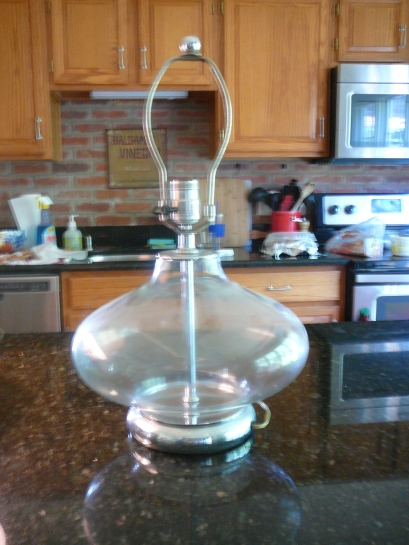 glass lamp before